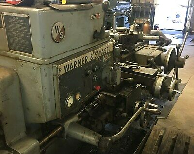Warner Swasey No.4 Turret Lathe With Extras. Square Head With Bar Feeder