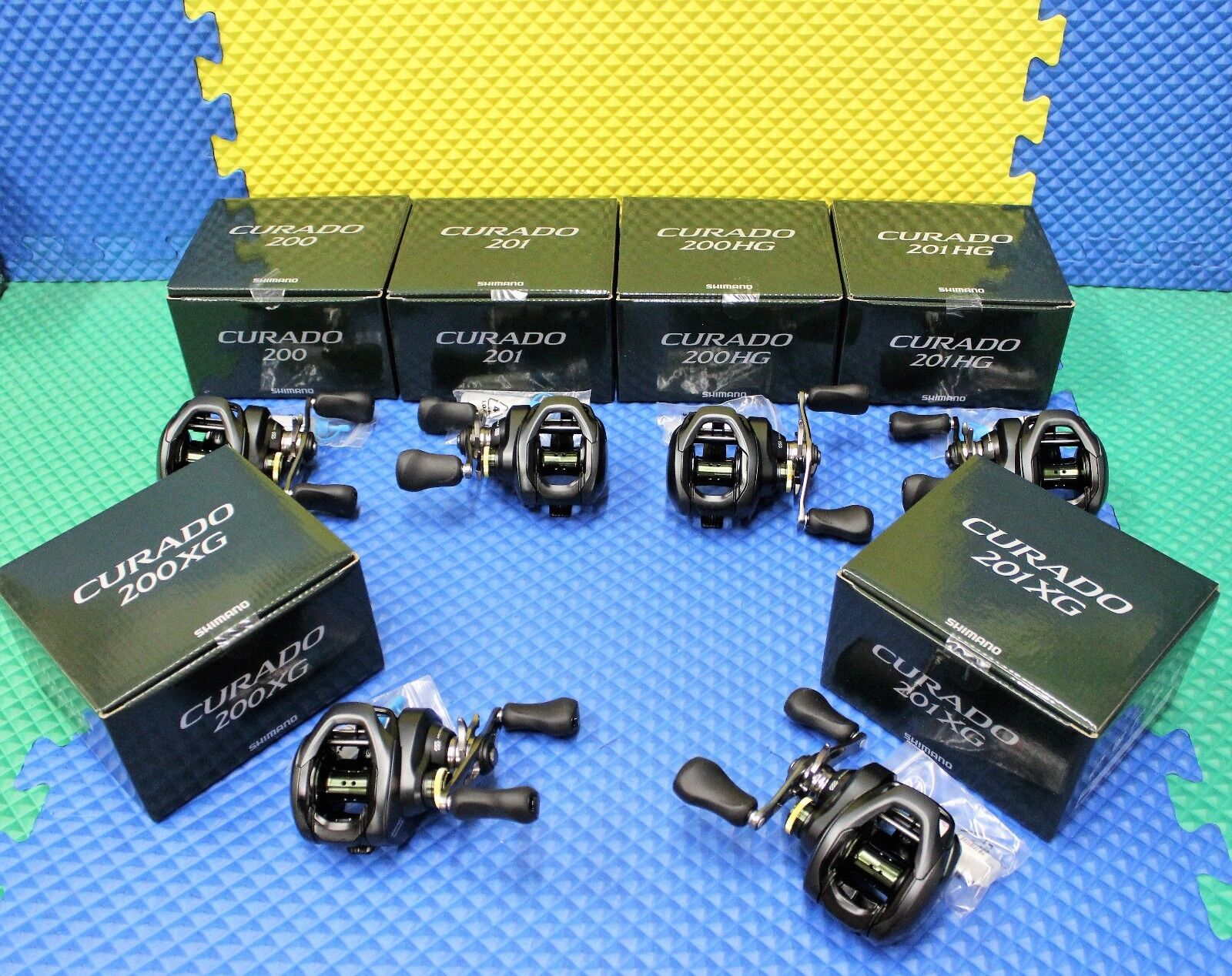Shimano Curado K Series Dark Green Box Low Profile Baitcasti