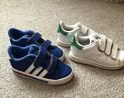Infant Boys Shoes Size 8.5 Adidas Trainers Stan Smith