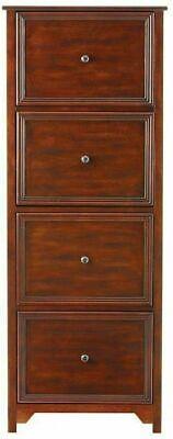 Wood Filing Cabinet File 4 Drawer Oxford Chestnut Antique Vintage Office