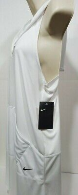 Womens Nike Swimsuit Cover Up Dress Hooded V-Neck NEW White NESS9357 Size Small Nike Womens Swimsuit