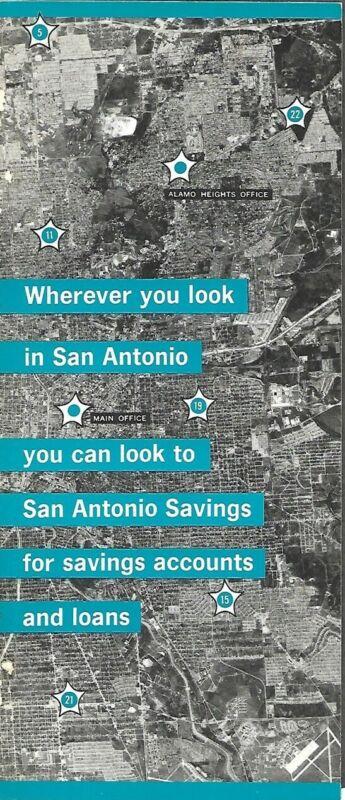 1966 Aerial Photo Calendar Brochure SAN ANTONIO SAVINGS ASSOCIATION Texas Bank