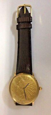 Pyramid Indian Quarter Coin Watch Quartz RARE! NEW! Lizard! Gift!