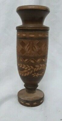 Vintage Turned Wooden Candlestick??