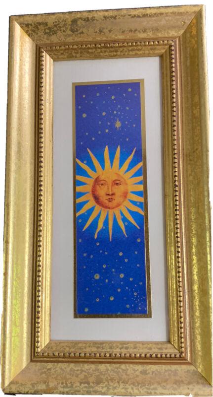 """Vintage Gold Framed Sunshine Picture 9.75"""" X 5.5"""""""