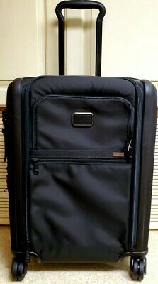 TUMI BLACK ALPHA 3 DUAL ACCESS CONTINENTAL ROLLING 4 WHEEL CARRY ON LUGGAGE