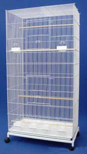 "55"" Large Flight Bird Cage With Stand Canaries Aviaries Parakeet LoveBirds Finch"