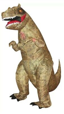 T-Rex Dinosaur Inflatable Kids Costume Funny Halloween Morph Suits