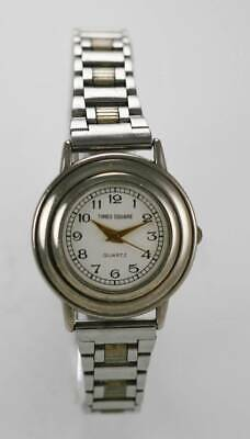 Decade white dial watch for women silver stainless steel