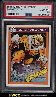 1990 Marvel Universe Sabretooth 57 PSA 10 GEM MINT - $36.99