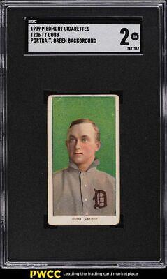 1909-11 T206 Ty Cobb GREEN PORTRAIT SGC 2 GD