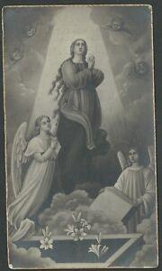 Estampa-antigua-de-la-Virgen-andachtsbild-santino-holy-card-santini