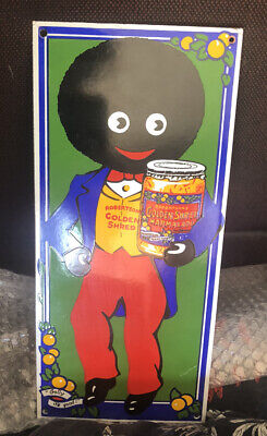 Vintage Enamel Golliwog/Golly Robertsons Golden Shred Marmalade Rare iconic sign