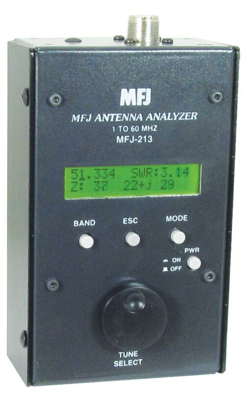MFJ-213 HF/6M Antenna SWR Analyzer, 1.8-60 MHz
