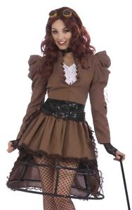 Sexy Steampunk Victorian Crinoline Dress Halloween Costume