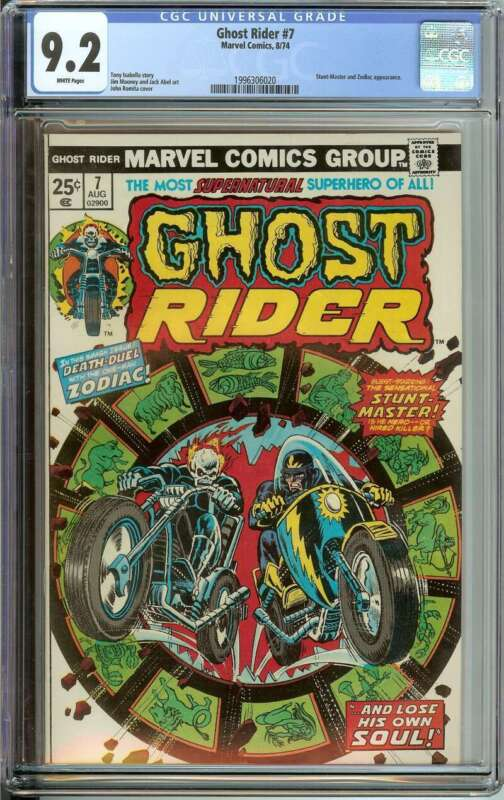 GHOST RIDER #7 CGC 9.2 WHITE PAGES