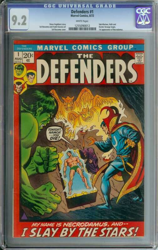 DEFENDERS #1 CGC 9.2 WHITE PAGES