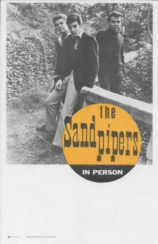 "Vintage 5 1/2"" x 8 1/2"" Promotional Flyer: THE SANDPIPERS pop jazz"