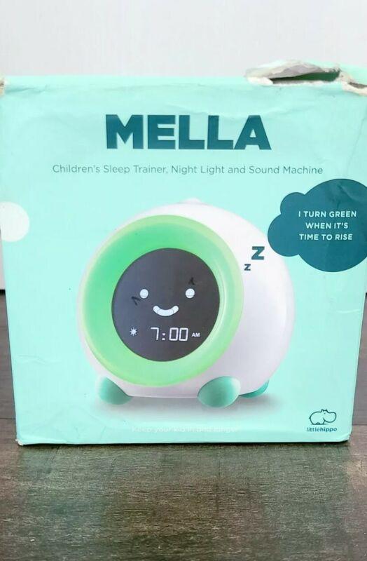 LittleHippo Mella Green Children Sleep Trainer, Alarm, Night Light, New Open Box