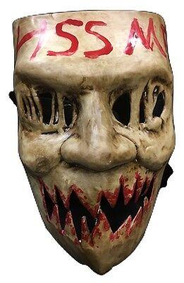The Purge Plastik Kiss Me Gesicht Kostüm Maske Kinder Erwachsene Wahl Jahr Film ()