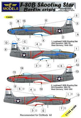 Used, LF Models Decals 1/144 LOCKHEED F-80B SHOOTING STAR Berlin Crisis for sale  USA
