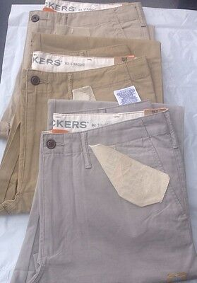 Echt Dockers Levi's D2 Lived & Abgenutzt Khaki Chino Straight Leg Hose/Hosen ()