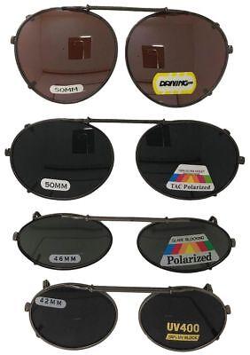 Clip On Sunglasses For Oval Round Frame Glasses Polarized Drive UV400 Lenses USA ()