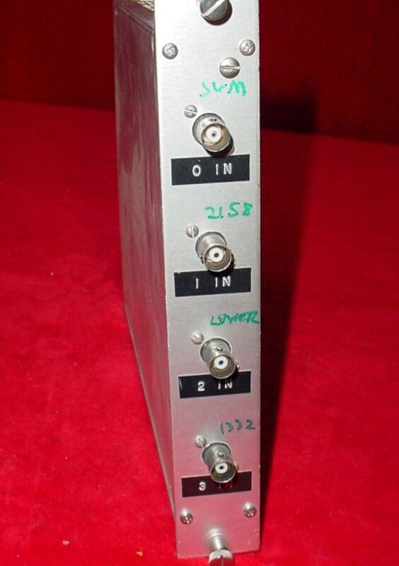 Input NIM BIN Module Plug-In Tennelec Ortec EG&G