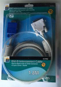 DVI-D to VGA Cable 1.8m Holmesville Lake Macquarie Area Preview