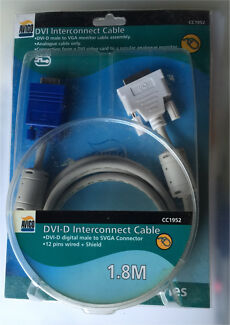 DVI-D to VGA Cable 1.8m