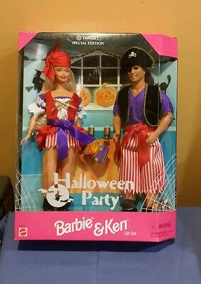 BARBIE & KEN HALLOWEEN PARTY GIFT SET MATTEL Target Special Edition #19874 New ()