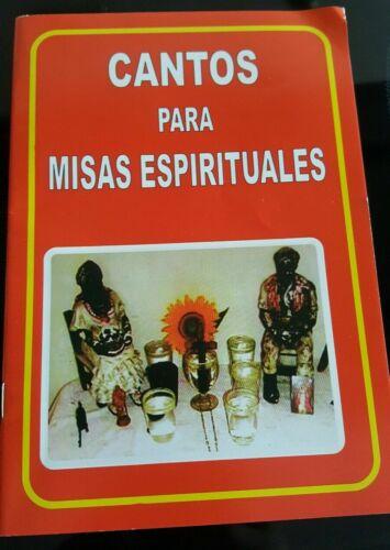 """Libro de Santeria """"Cantos Para Misas Espirituales""""  Yoruba Espiritismo IFA,PALO"""