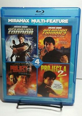 Miramax Jackie Chan Series  Blu Ray Disc 2011 Jackie Chan 4 Movies Free Shipping