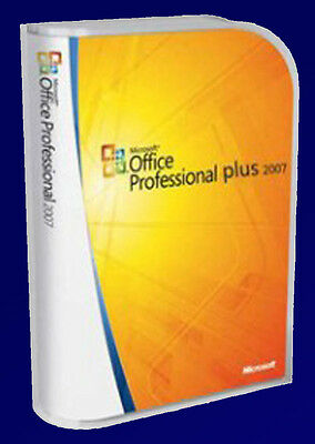 Microsoft Office Professional 2007   Word  Excel Outlook Publisher Etc   5 Pc S