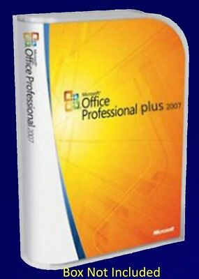 Microsoft Office Professional 2007 Full Version Inc's Word Excel etc - 5 PC�s