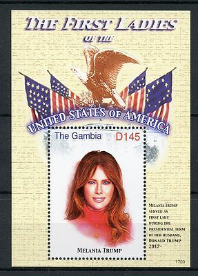 Gambia 2017 MNH Melania Trump First Ladies of USA 1v S/S US Presidents Stamps