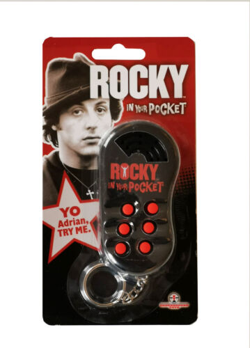 Rocky Sylvester Stallone in your Pocket Talking Official Keychain Keyring