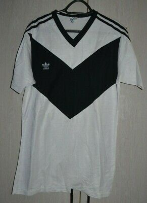 ADIDAS VINTAGE TEMPLATE 1980`S FOOTBALL SHIRT JERSEY WHITE LUGANO SWISS STYLE image