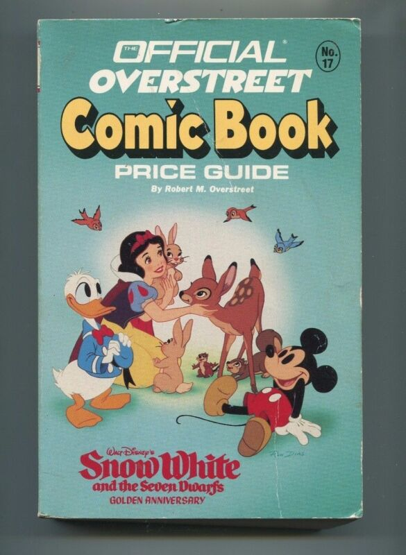 OVERSTREET COMIC BOOK PRICE GUIDE #17 DISNEY COVER! 1987