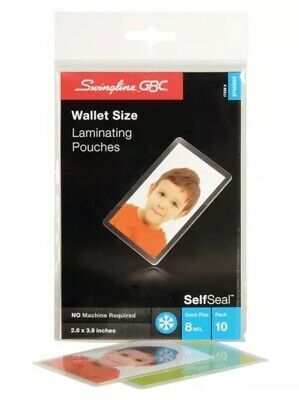Gbc Self Seal Self Adhesive Laminating Pouch - Wallet Size Supported Free Ship