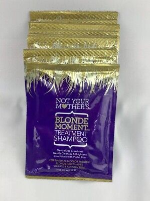 Lot of 10 Not Your Mother's Blonde Moment Treatment Shampoo 1 fl. oz. Packets