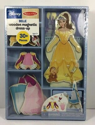 Melissa & Doug Disney Belle Magnetic Dress-Up Wooden Doll Pretend Play Set