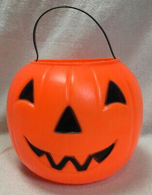 EMPIRE Vintage 1980 Blow Mold Jack-O-Lantern Pumpkin Candy Treat Bucket Pail