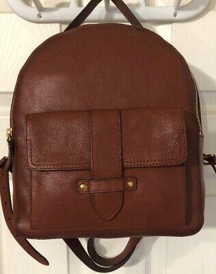 FRYE OLIVIA MINI BACKPACK Cognac, Leather, Purse, Handbag, Brown,Tote Backpack Brown Leather Handbags