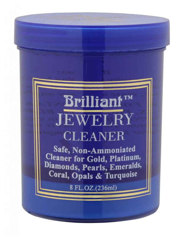 Brilliant® 8 Oz Jewelry Cleaner with Cleaning Basket and Br