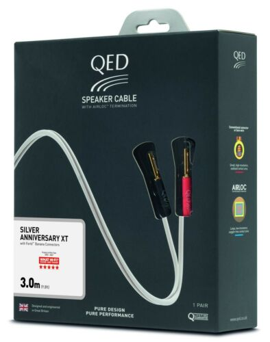 QED+Reference+Silver+Anniversary+XT+Speaker+Cable+-+PAIR+3+Metre+3M