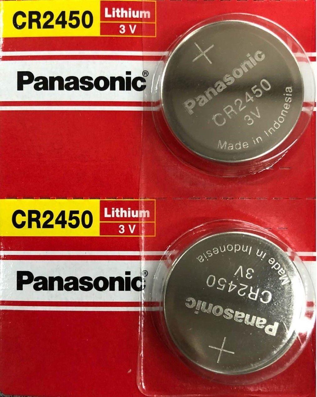 2 x Fresh New Panasonic CR2450 ECR 2450 3v LITHIUM Coin Cell Battery Exp. 2030 Consumer Electronics