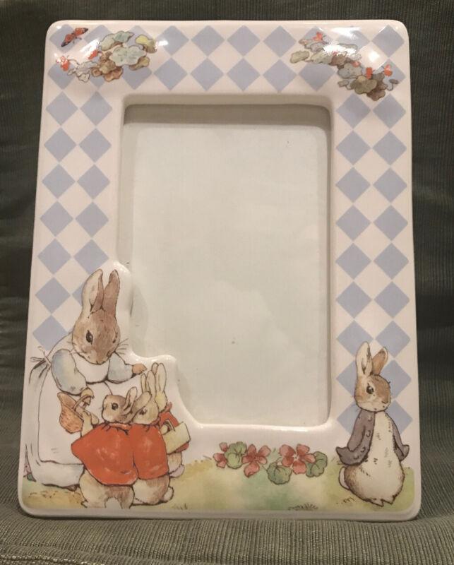 Beatrix Potter Peter Rabbit Ceramic Photo Frame 5 by 7 Nursery Decor