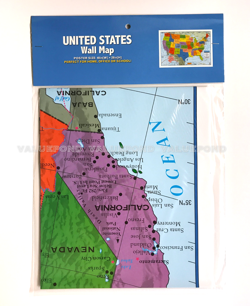 USA US MAP Poster Size Wall Decoration Large MAP of United States 40
