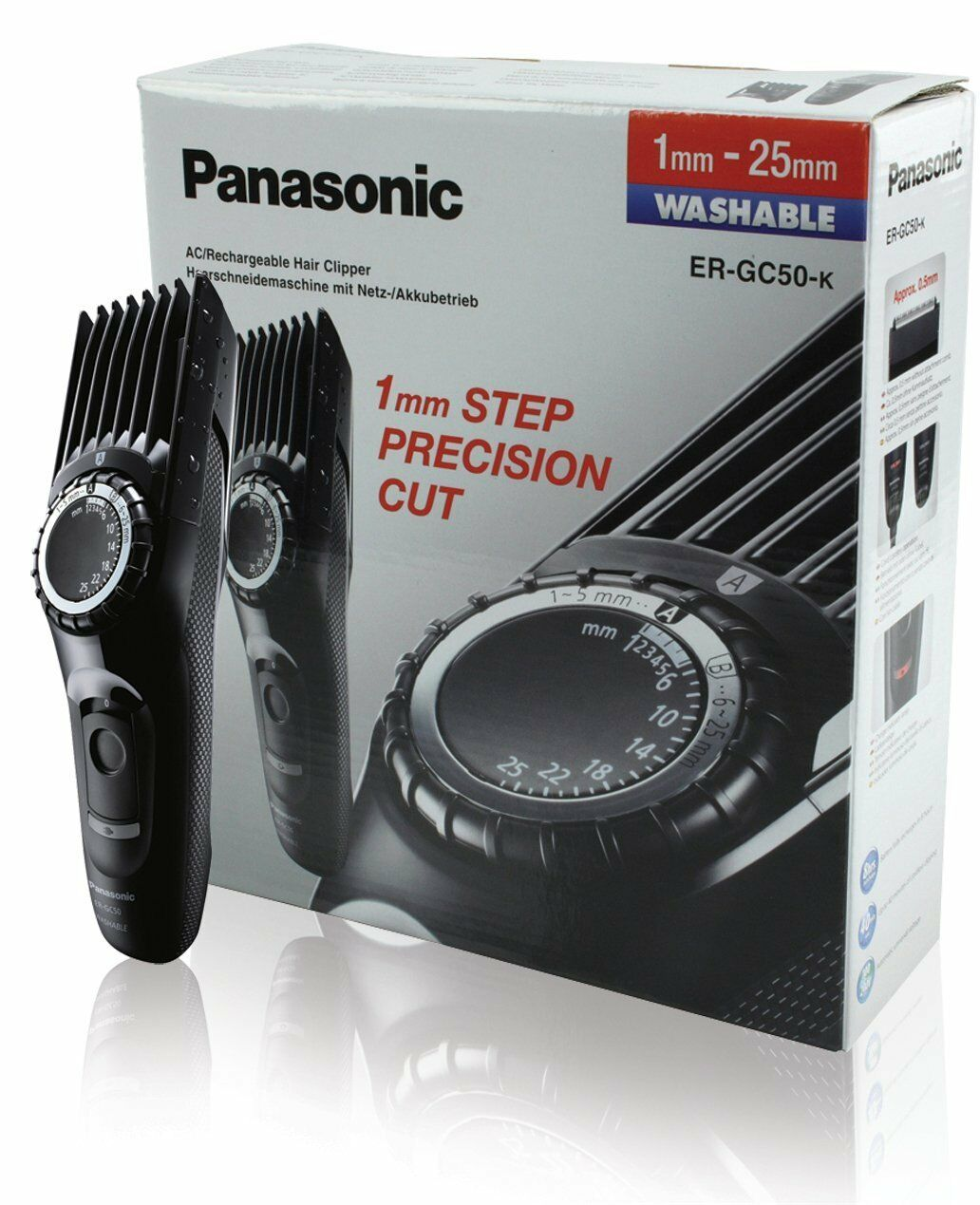 Panasonic ER-GC50  Haarschneidemaschine Haarschneider Barttrimmer Akku NEUWARE